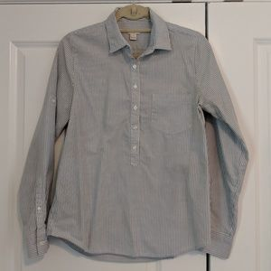 J.Crew Striped Popover Buttondown Roll Up Sleeves
